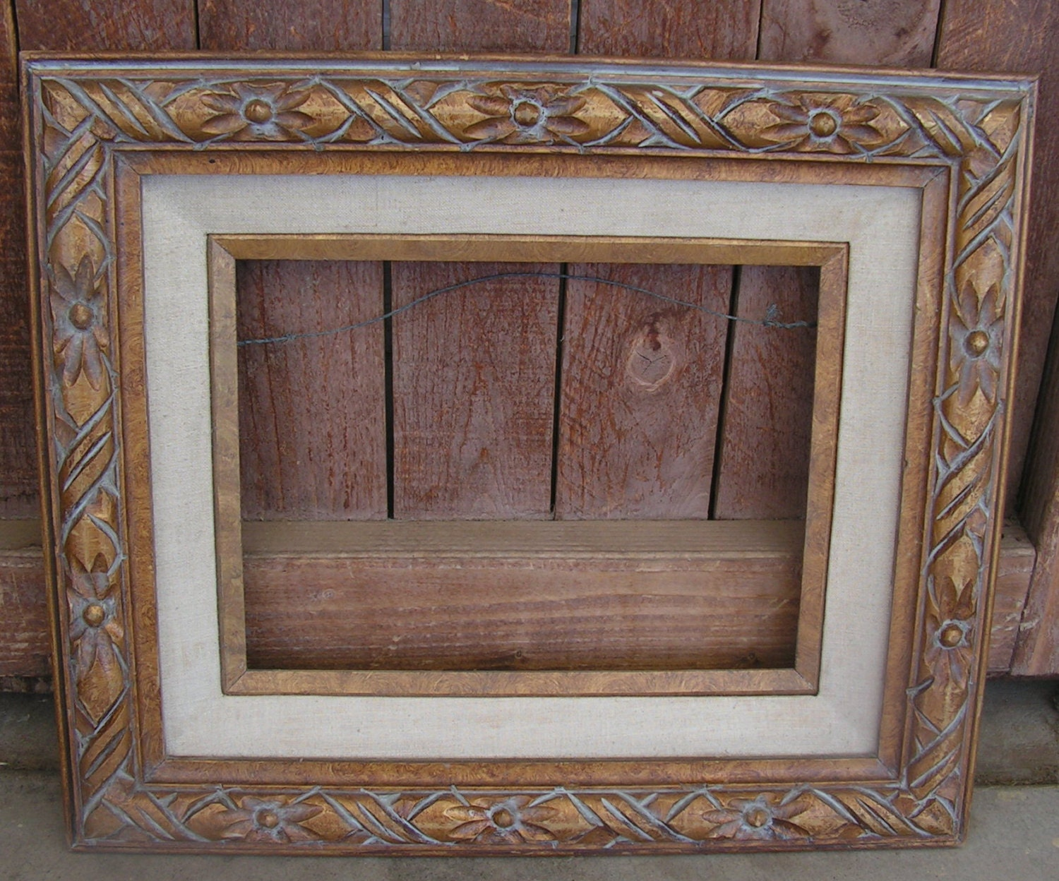 Wooden picture frame carved wood wall art frame made in mexico sold by retrosideshow jeuxipadfo Image collections