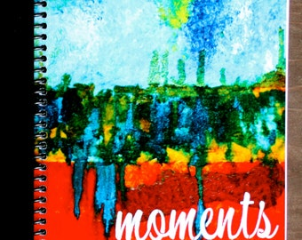 """Moments 5.5""""x8.5"""" Lined Paper Coil Bound Notebook, Journal, Writing Book, Wholesale Notebooks, Stationery"""