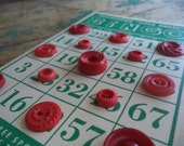 Vintage Buttons on Vintage Bingo Card