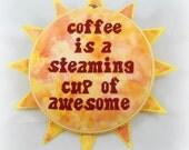 14004 Awesome Coffee Cross Stitch PDF Pattern - DIGITAL DOWNLOAD