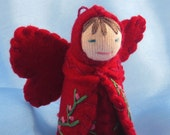 Red Rainbow Fairy Doll- Waldorf Inspired