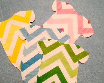 "Pack of 30 chevron ombre Baby shower ""shirt"" paper napkins and or banner   You choose color."