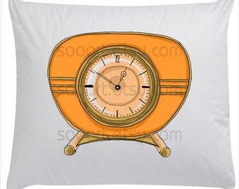 Retro  Desk Clock  -Digital Image Sheet -Original Illustrate Drawing , t-shirts, scrapbook, lampshades  ETC.v