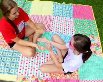 Picnic Blanket - Oversized  Beach Blanket - Custom Picnic Blanket - Family Beach Blanket - Jenny Eliza Fabric