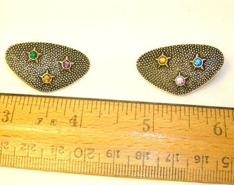 Vintage Costume Jewelry Earrings, Circa 1940's to 1960's