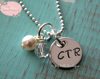 CTR  Choose the Right Inspirational Necklace - Personalized Hand Stamped