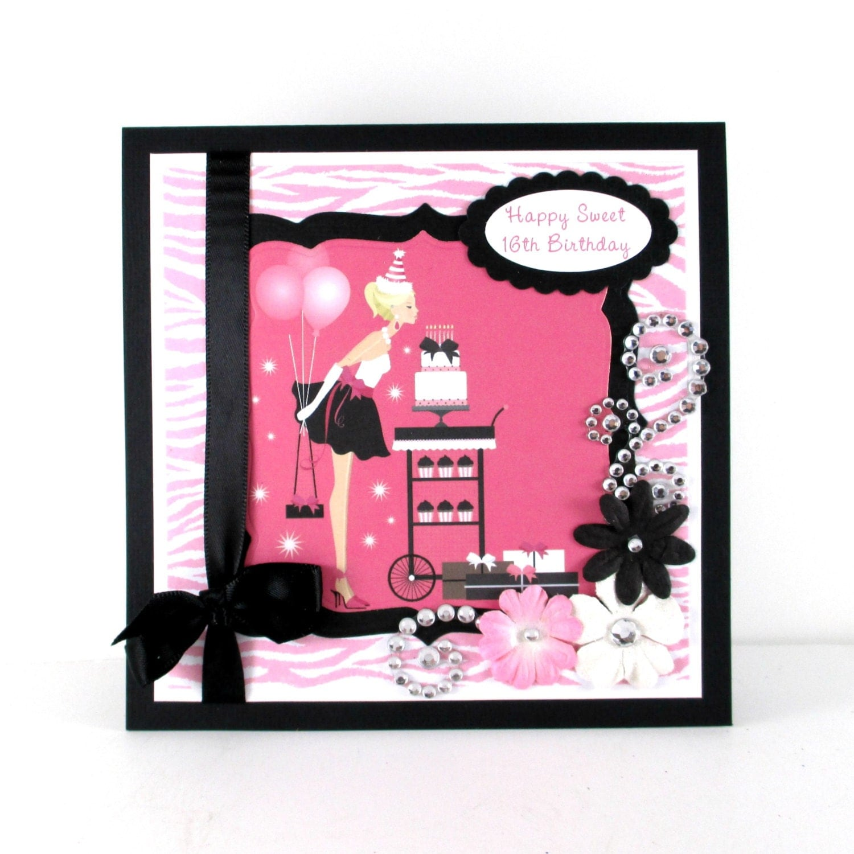 Sweet 16th Birthday Sweet 16 Personalized Card Birthday
