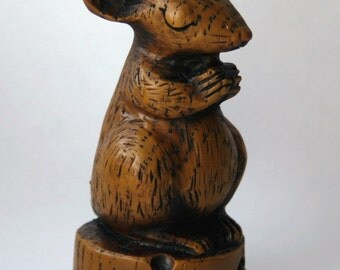 Church Mouse - Praying on Cheese - Mouse Ornament