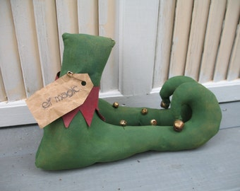 Primitive Christmas Elf Shoes - Christmas Decoration - Primitive Elf Boots