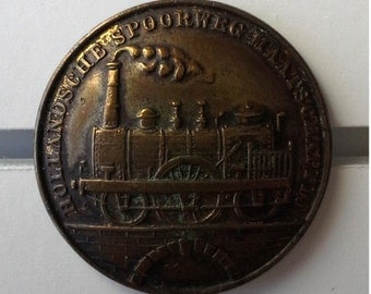 Rare Antique RAILROAD BUTTON -- Historical TRANSPORTATION -- 1830's / 1850's