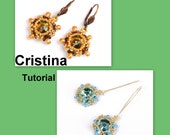 Cristina Rivoli-SuperDuo Beadwork Earrings PDF Tutorial