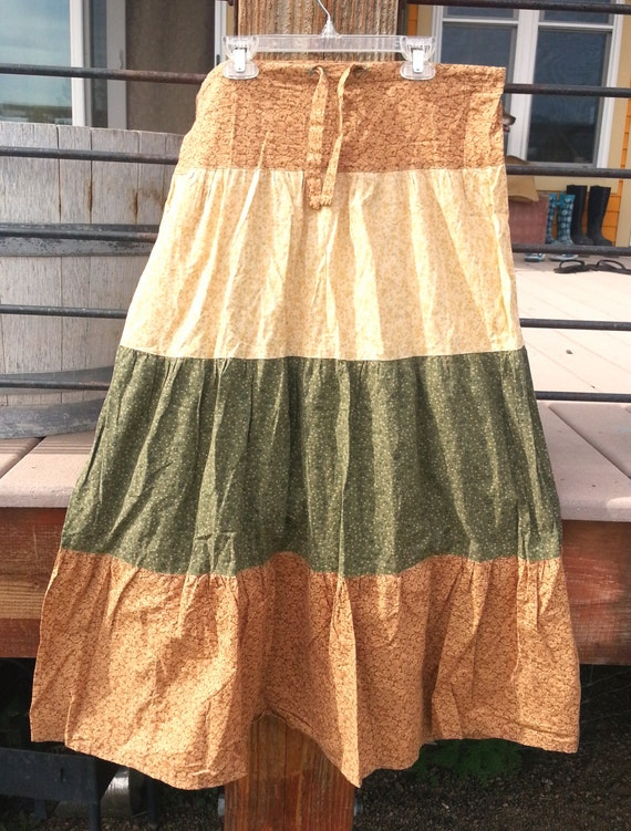 Hand Made Cotton Hippie Flower Spinner Holly Hobbie Skirt
