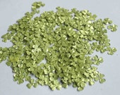 100 Textured Lime Green Color Flower sequins/KBSF405