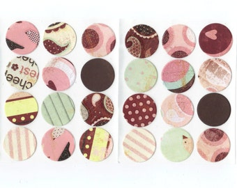 Envelope Seals Stickers - Glittered Love Nest Collection (24) One Inch / Ready To Ship