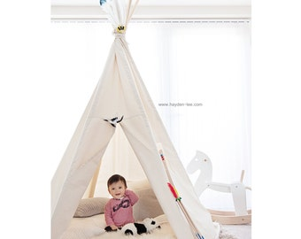 Teepee BIG size - Plain fabric tent and flags only - NO POLES!