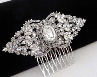 Bridal hair comb, Wedding hair piece, Rhinestone hair comb, Wedding hair comb, Vintage style hair comb, Art deco hair comb, Swarovski hair