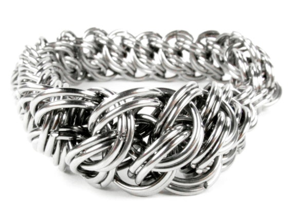 Chainmaille Bracelet - Kings GSG Pattern - Stainless Steel