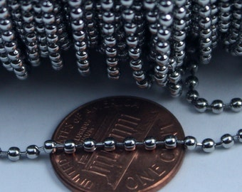 10 feet Stainless Steel BALL Chain - 2.0mm ball size with FREE 6 pcs of Connector (Insert Type)