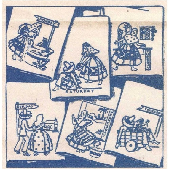 Spanish Designs For Days Of The Week Kitchen Towels 7159