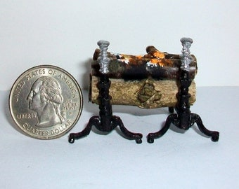 Miniature Fireplace Andirons  1:12 scale