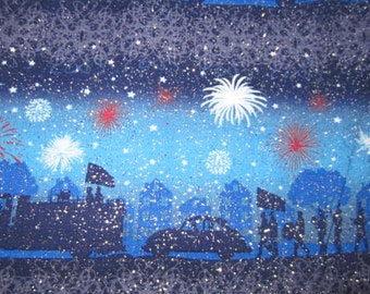 Fireworks and background scene with lots of sparkles fabric