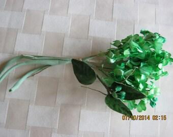 Lovely Green Lilac Vintage Hat Trim