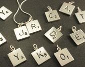 Letter Tile Pendants (3)