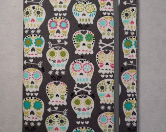 Kindle cover Hardcover, Kindle Paperwhite Cover, iPad Mini, Nook Tablet Cover,  Book Style, Skulls