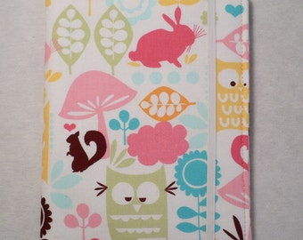 Kindle cover Hardcover, Kindle Paperwhite Cover, iPad Mini, Nook Tablet Cover, Forest Friends