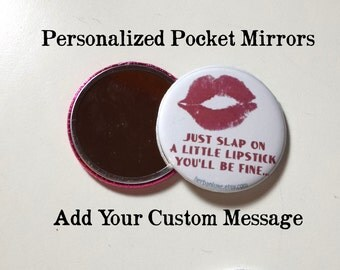 Personalized Pocket Mirror Favors