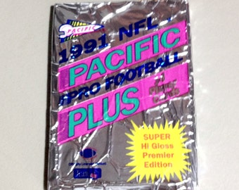UNOPENED Pack 1991 NFL Pacific Pro Football Cards