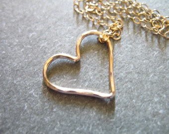 Sale .. 1 2 5 10 pc, Gold HEART Charms Pendants Links, Hammered, 15.5x14 mm, Sterling Silver or 14k ROSE or Yellow Gold Fill Heart, solo hht