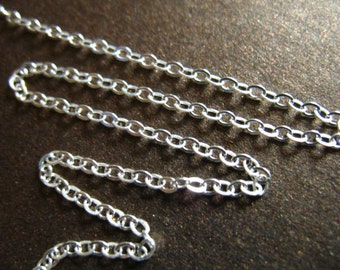 Sale,, 2x1.6 mm Sterling Silver Chain by the Foot, FLAT CABLE Upgrade, wholesale ss s80 hp