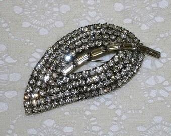 Vintage Rhinestone Brooch or Pin