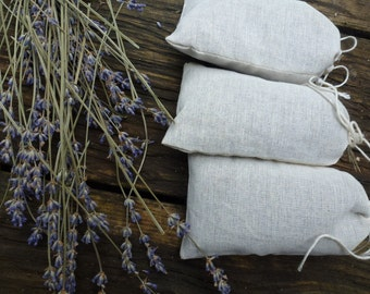Organic Lavender Pouch - 1 single pouch - Botanical Sachet - Drawer Sachet - Moth-repellent herbal sachet