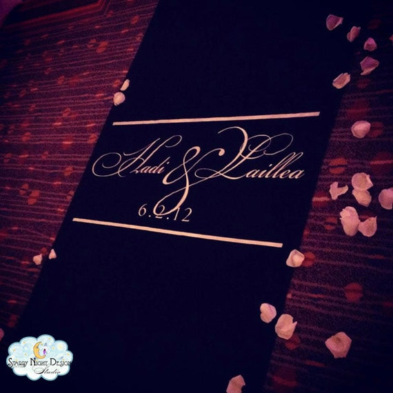 aisle runner wedding aisle runner black aisle runner monogram