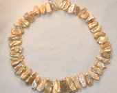 Golden Freshwater Stick Pearls 16 Inch Strand