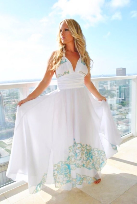 Long White Couture Beach Wedding Dress Dresses White By