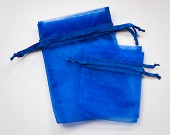 Royal Blue Organza Bags, Wedding Favor Organza Bags