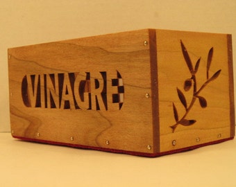 Caddy Vinagrera (Spanish for Cruet Caddy) Handmade