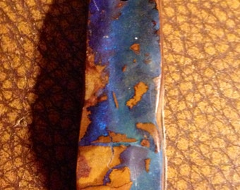 Beautiful fire filled australian boulder opal pendant