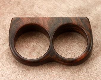 Size 7.25 / 6.75 - Guayacan Double Wood Ring No. 183