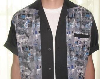Men's Shirt Jac Vintage Fabric Architecture