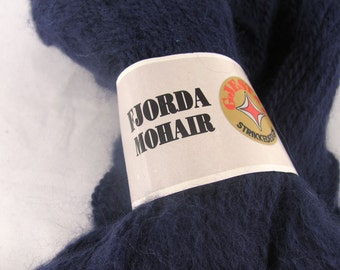 Navy Blue Gjestal Fjorda Mohair Knitting Yarn deSTASH