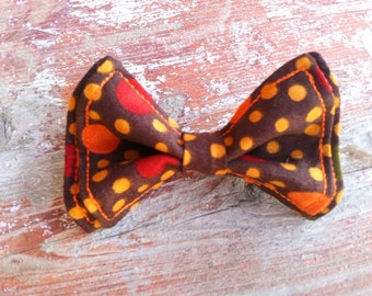 Boys Bow Tie - Thanksgiving Spots and Dots Bow Tie - Bow Ties Toddler - Bowtie - Orange Bow Tie - Thanksgiving Tie - Fall Bow Tie - Fall Tie