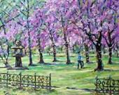 Spring Cherries Original Oil Painting