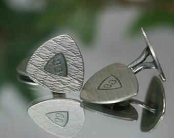 Vintage Silver Tone Cufflinks - A & Z Co