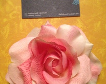 Soft pink silk rose pinup hair flower clip wedding
