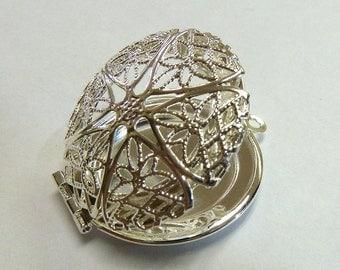 Silver Filigree Locket Charm