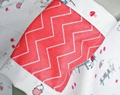 Tea Party Car Seat Blanket (Car Seat Canopy with Elastic)